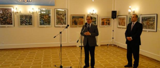 Открытие выставки украинского художника в РЦНК в Праге