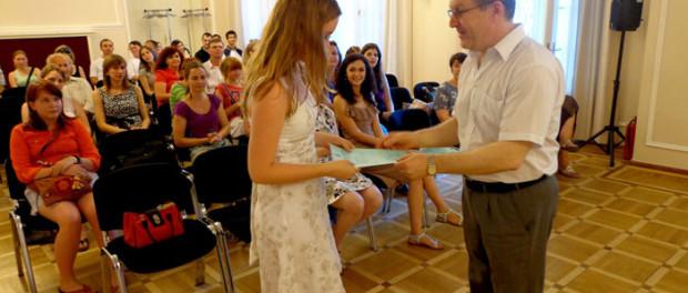Выпускной вечер студентов курсов русского языка РЦНК в Праге