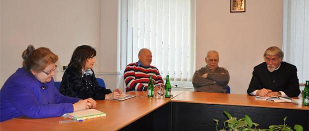 Setkání se spisovatelem Valentinem Kurbatovem a ředitelem Státního muzea – rezervace A.S. Puškina Georgijem Vasilevičem v RSVK v Praze
