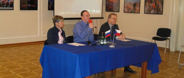 Setkání s kosmonautem Sergejem Rjazanskim v RSVK v Praze
