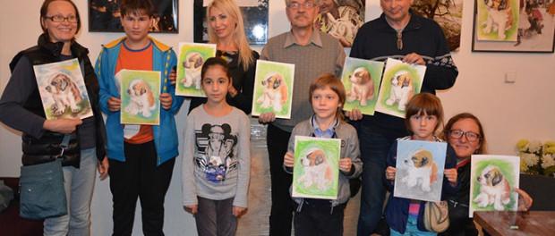 Dílna malíře – animalisty  Konstantina Ščerbakova v RSVK v Praze