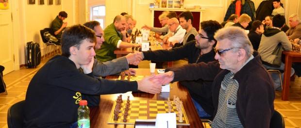 """Mezinárodní amatérský šachový turnaj """"Zimní gambit"""" v RSVK v Praze"""