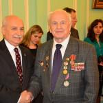 В Праге ветераны получили юбилейные медали к 70-летию Победы