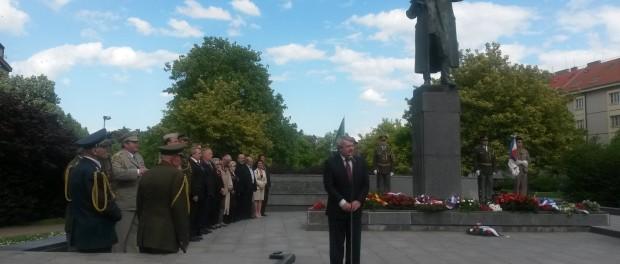 Пражане почтили память маршала Конева