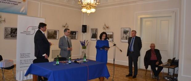 Předání pamětních medailí «70. výročí velkého vítězství» v RSVK v Praze