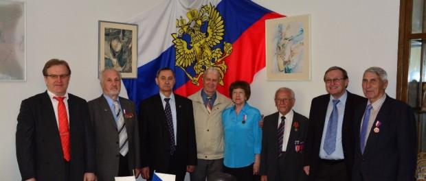 Setkání ruských a českých veteránů v RSVK v Praze