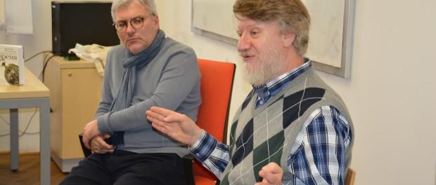 Přednáška ruských spisovatelů na Karlově univerzitě v Praze