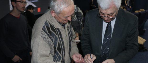 Российский космонавт Юрий Батурин выступил в Праге