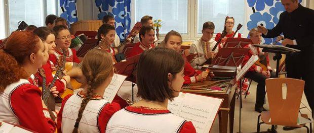 Vystoupení Orchestru ruských lidových nástrojů v Praze 5