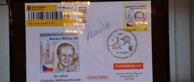 Filatelistická výstava k 40. výročí letu do vesmíru Vladimíra Remka  vRSVK vPraze