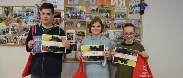 Краевой тур Всечешской олимпиады по русскому языку для чешских школьников прошел в г. Пршибрам