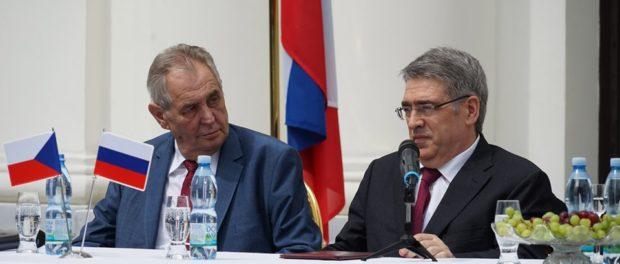 Prezident České republiky Miloš Zeman se zúčastnil oslav Dne velkého vítězství