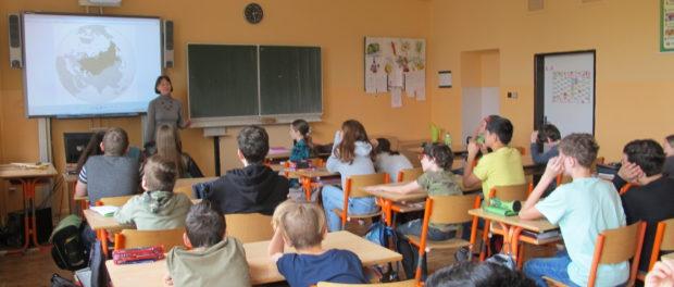 Чешским школьникам была представлена программа «Путешествие в страну Азбуки»