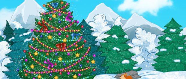 Елка «Новогодние приключения в лесу»