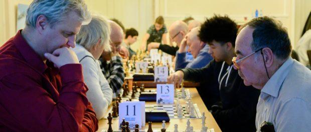 """XIV. mezinárodní amatérský šachový turnaj """"Zimní gambit 2019""""  v RSVK v Praze"""