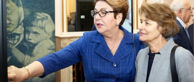 Э.В.Митрофанова открыла в Париже международную выставку о военных судьбах красноармейцев-евреев
