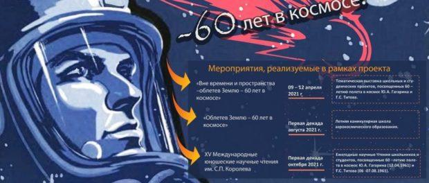 Открытие международной выставки — конференции научно- исследовательских, технических и творческих проектных работ «Вне времени и пространства – облетев Землю – 60 лет в космосе»