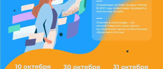 """Международная олимпиада""""Phystech.International"""" 2021 по математике, физике, биологии и информатике."""
