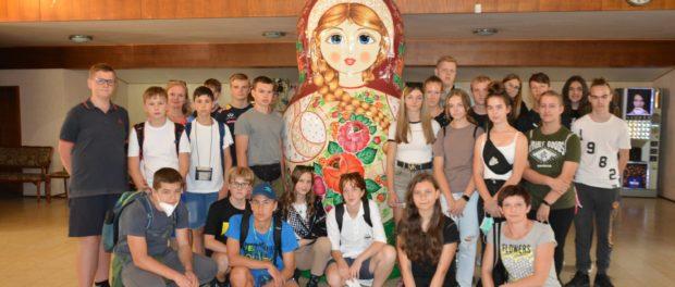 Den ruského jazyka pro školáky z obce Vidče